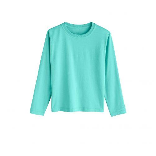 Coolibar---UV-shirt-voor-kinderen-lange-mouwen---Crisp-Aqua-blauw