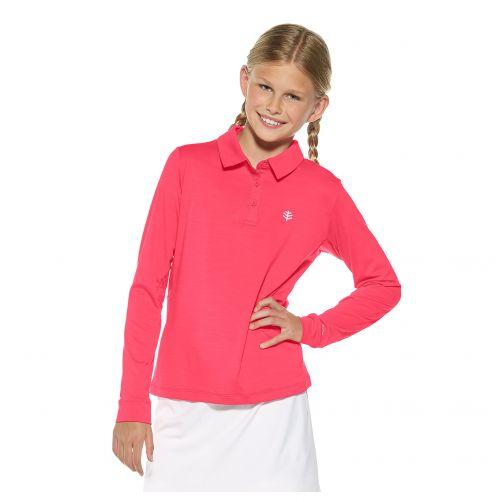 Coolibar---UV-polo-voor-meisjes---Roze