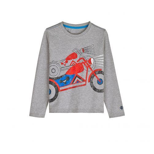 Coolibar---UV-shirt-voor-kinderen-lange-mouwen---Motor-Heidegrijs