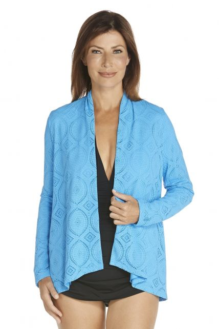 Coolibar---UV-vest-dames---Azure