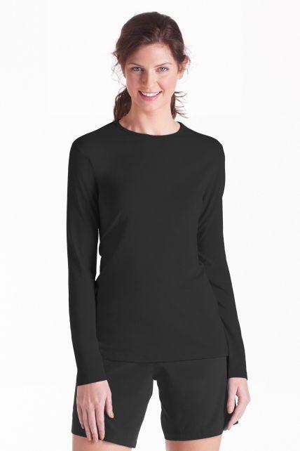 Coolibar---UV-longsleeve-shirt-dames---zwart