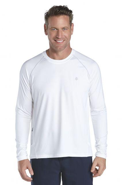 Coolibar---UV-longsleeve-shirt-heren---blauw