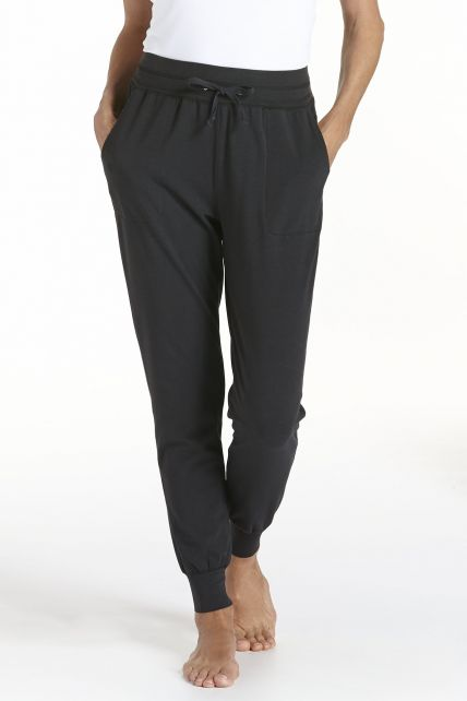 Coolibar---Casual-UV-broek-dames---zwart