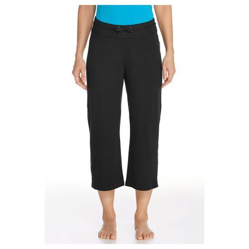Coolibar---UV-broek-capri-dames---Zwart