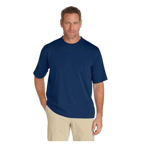 Coolibar---UV-shirt-voor-heren---Navy-blauw