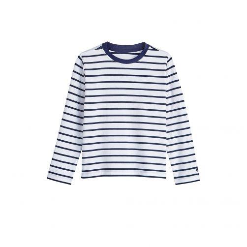 Coolibar---UV-shirt-voor-kinderen---Wit-/-navy-blauwe-strepen