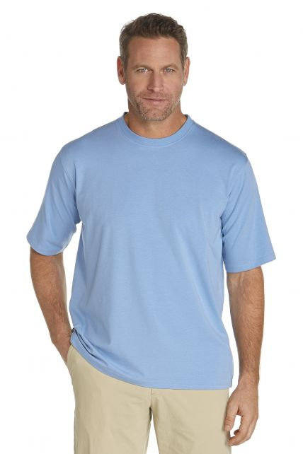 Coolibar---UV-shirt-heren---licht-blauw
