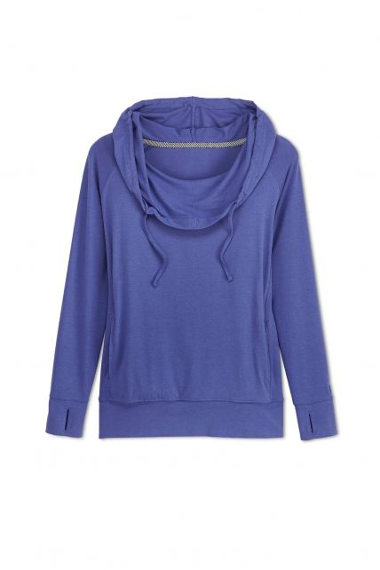 Coolibar---UV-hoodie-dames---Blauw