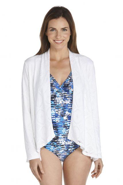 Coolibar---UV-vest-dames---beach-white