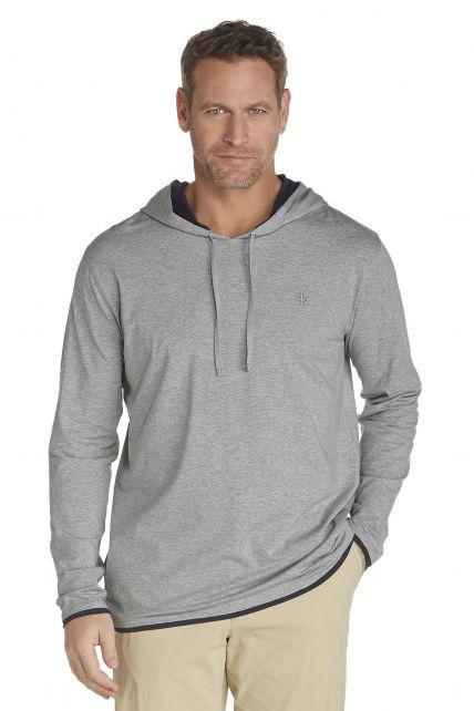 Coolibar---UV-hoodie-heren---grijs