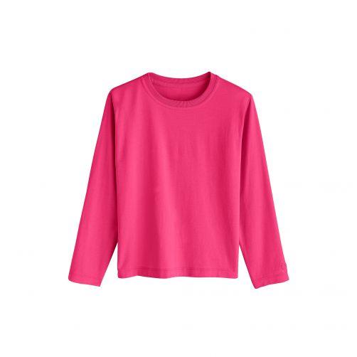 Coolibar---UV-shirt-voor-kinderen---Magenta(paars-rood)