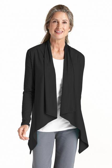 Coolibar---UV-Sun-Wrap-Vest-voor-dames---Marietas---Zwart