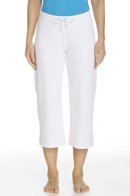 Coolibar---UV-broek-capri-dames---wit