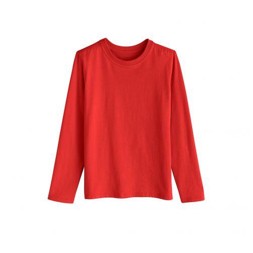 Coolibar---UV-shirt-voor-kinderen-lange-mouwen---Tropisch-rood