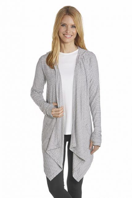 Coolibar---UV-Asymmetrisch-vest-dames---Zwart-/-Wit