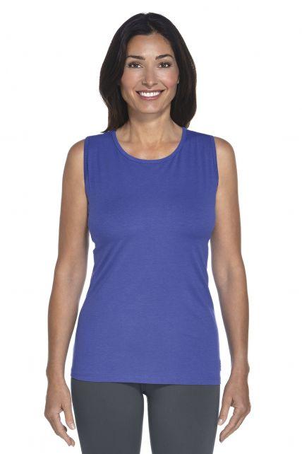 Coolibar---UV-singlet-dames---Blauw