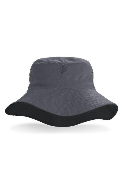 Coolibar---UV-omkeerbare-hoed-voor-heren---Grijs-/-Zwart