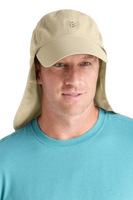 Coolibar---UV-vispet-voor-heren---Kaki