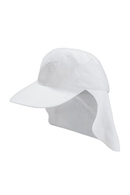 Coolibar---UV-sport-zonnepet-voor-kinderen---Wit