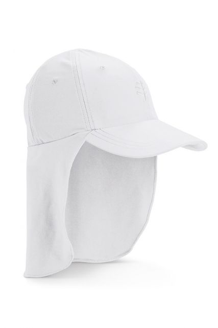 Coolibar---UV-Sportcap-met-nekbescherming-voor-kinderen---Surfs-Up---Wit