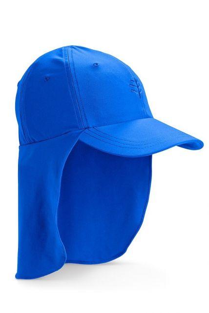 Coolibar---UV-zonnepet-voor-kinderen-met-nekflap---Blue-Wave