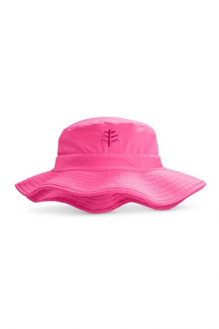 Coolibar---UV-bucket-hat-voor-kinderen---Aloha-roze