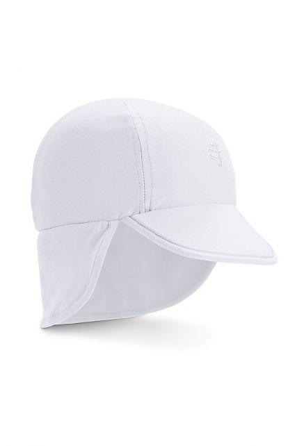 Coolibar---UV-zonnepet-voor-baby's-met-nekflap---Wit