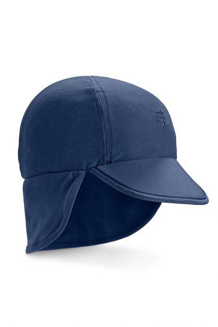 Coolibar---UV-Zonnepet-voor-baby's-met-nekflap---Splashy---Navy
