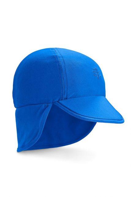 Coolibar---UV-zonnepet-voor-baby's-met-nekflap---Blue-Wave