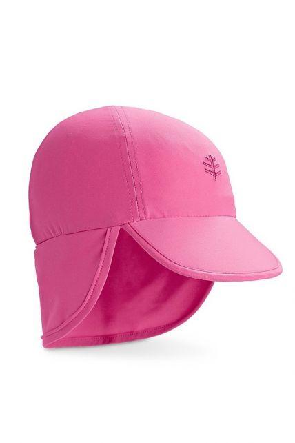 Coolibar---UV-zonnepet-voor-baby's-met-nekflap---Aloha-roze