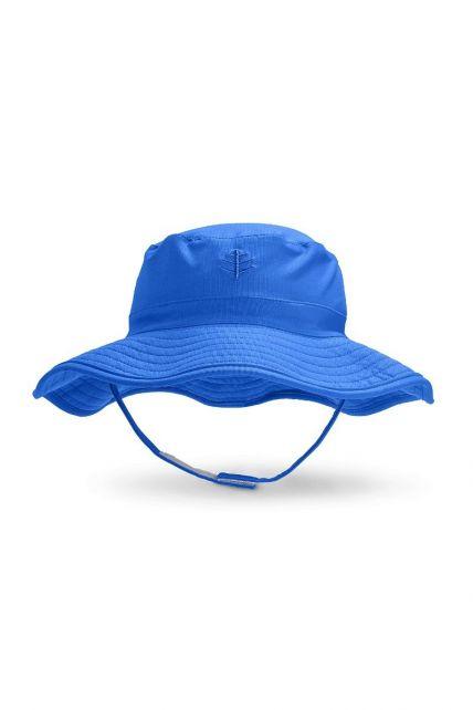 Coolibar---UV-bucket-hat-voor-baby's---Baja-blauw
