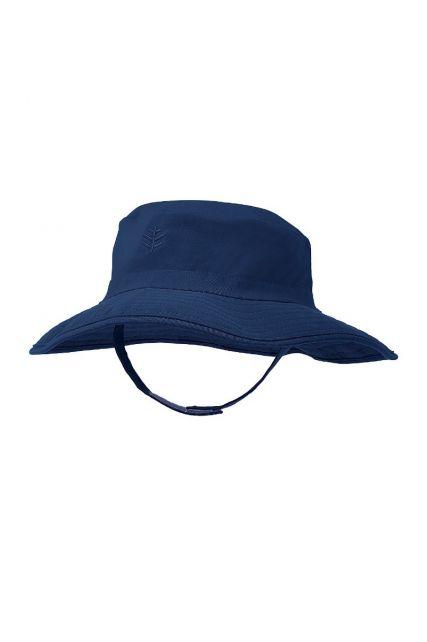 Coolibar---UV-bucket-hat-voor-baby's---Navy-blauw