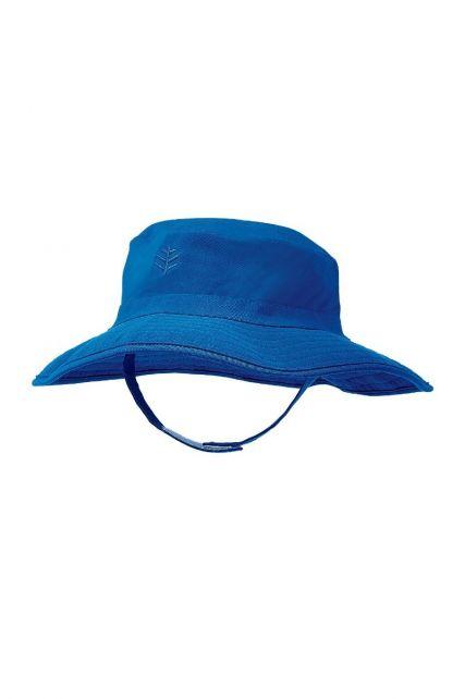 Coolibar---UV-bucket-hat-voor-baby's---Blue-Wave