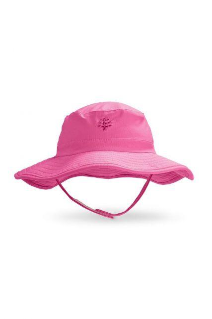 Coolibar---UV-bucket-hat-voor-baby's---Aloha-roze