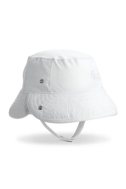 Coolibar---UV-bucket-hat-baby's---Opvouwbare-rand---Wit