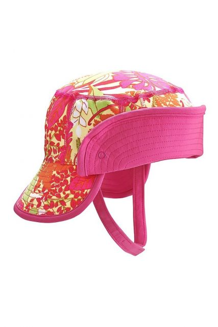 Coolibar---UV-bucket-hat-baby's---Opvouwbare-rand---Tropisch-roze