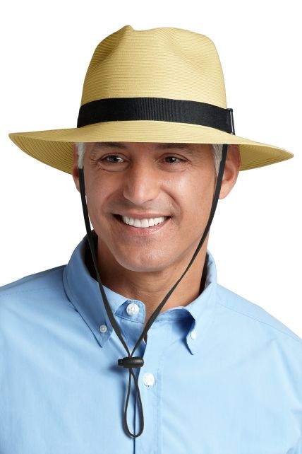 Coolibar---UV-Fedora-hoed-voor-heren---Beige