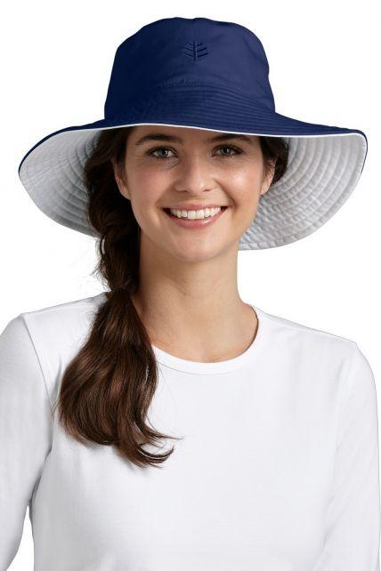 Coolibar---UV-beschermende-hoed-dames---Blauw