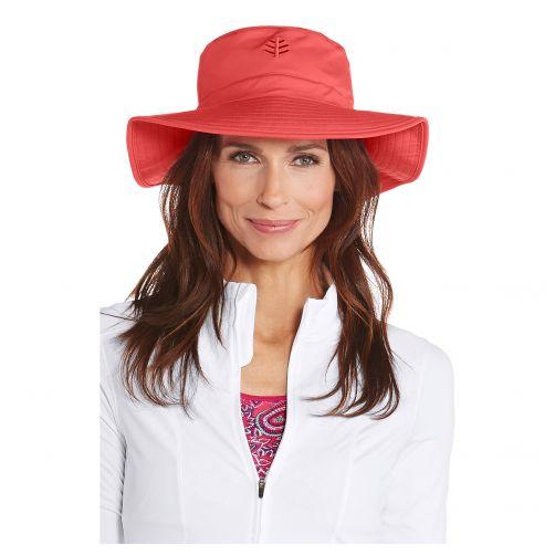 Coolibar---UV-flaphoed-voor-dames---Klaproos-rood