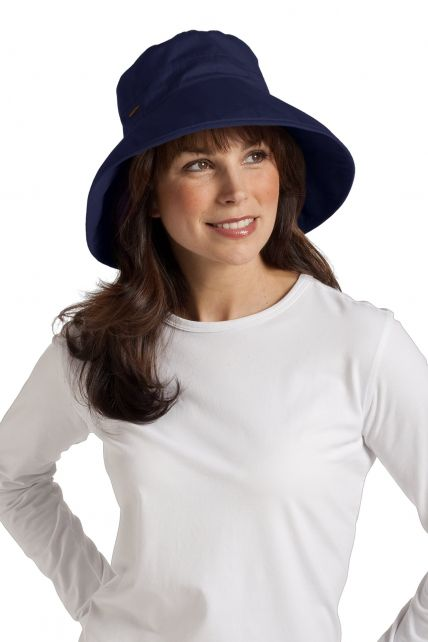 Coolibar---UV-hoed-dames---Blauw