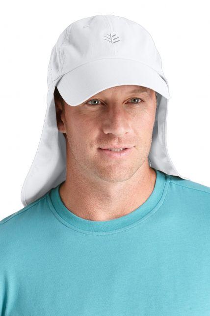 Coolibar---UV-vispet-voor-heren---Wit