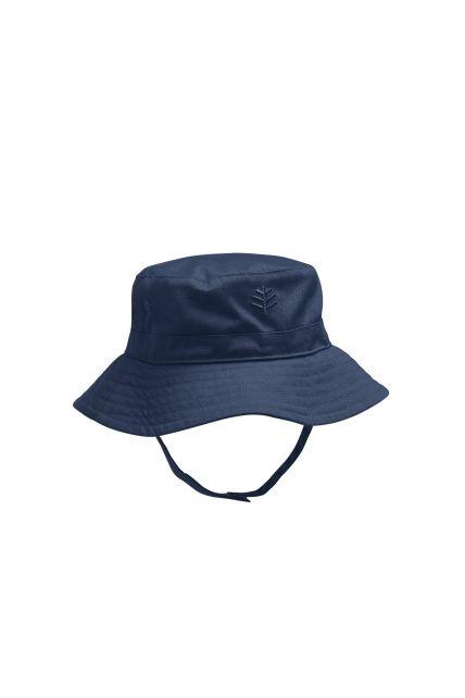 Coolibar---UV-zonnehoed-voor-baby's---Blauw