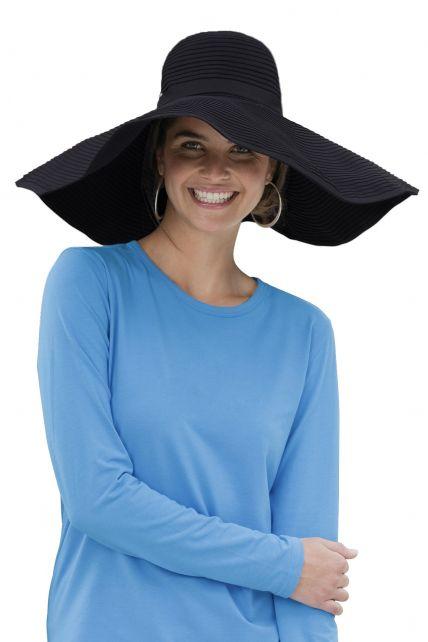 Coolibar---UV-XL-flaphoed-voor-dames---Zwart