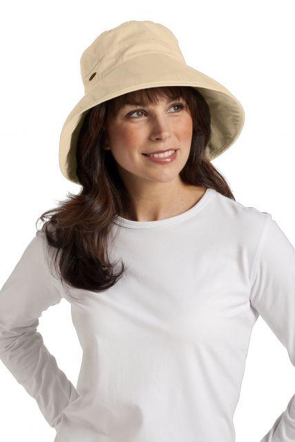 Coolibar---UV-hoed-voor-dames---Beige
