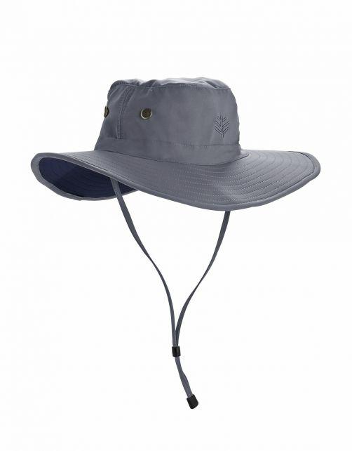 Coolibar---Modelleerbare-UV-Hoed-met-brede-rand-voor-heren---Leo---Carbon/Zwart