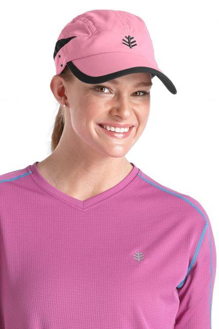 Coolibar---UV-unisex-sport-zonnepet---Roze