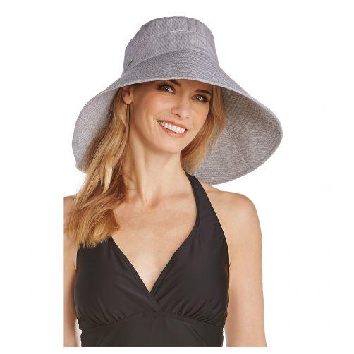 Coolibar---UV-hoed-voor-dames---Zwart-wit-gestreept