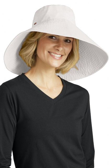 Coolibar---UV-flaphoed-voor-dames---Wit