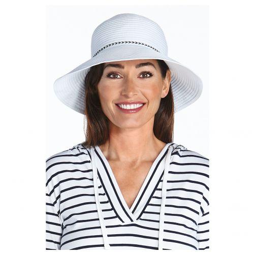 Coolibar---UV-bucket-hat-voor-dames---Wit