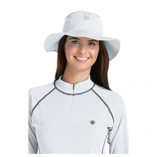 Coolibar---UV-bucket-hat-unisex---Wit